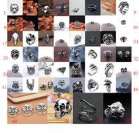 Wholesale Stainless Skull Rings - Fashion New Style Hot Selling popular Cool Men's Stainless Steel Fashion Gothic Punk Skull Head Biker Finger Rings Jewelry - Free Shipping