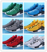 Wholesale Mens Gym Tops - 2016 New Human Race Pharrell Williams X NMD Sports Running Shoes,discount Cheap top Athletic mens Outdoor Boost Training Sneaker Shoes