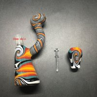 Tuyaux de verre Heady avec 10mm de tabac Bowl 12cm Tall 10mm Joint Water Pipes Prix bon marché Oil Rigs Smoking Pipes