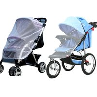 Wholesale Mosquito Netting Retail - Retail Trendy Baby Stroller Mosquito Net Infants Baby Stroller Pram Protector Pushchair Fly Midge Insect Bug Cover