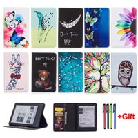 Wholesale Kindle Fire Cases Pink - Fashion Cartoon Case For New Kindle 2016 8th Generation Funda For Kindle 8 Generation 2016 Tablet PU Leather Flip Stand Shell