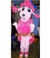 yetişkin köpek takım elbisesi kostümü toptan satış-Toptan-Fransız Kaniş Köpek Maskot Kostüm Yetişkin Karakter Fantezi Elbise Karikatür Karakter Kıyafet Suit Ücretsiz Gemi