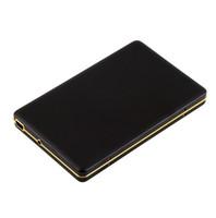 pc harici sabit diskler toptan satış-Altın Çerçeve Elmas 2nd 2.5 inç SATA IDE HDD Kutusu USB 2.0 SSD Sabit Disk Disk Harici Depolama Muhafaza Kutusu Kasa Samsung Samsung için Mobil