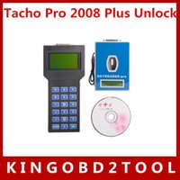 Wholesale Set Cable Tacho Pro - Full set universal odometer correction tool tacho pro 2008 with all cables tacho pro UNLOCK High Quality free shippping via dhl