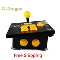 Wholesale Computer Game Handle - Wholesale- Cdragon arcade stick USB rocker arcade joystick KOF Street Fighter three and PC computer game handle inclined free shipping