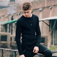 Coreano Estilo Pullover Men Black Slim Fit Base Sweater Homens Roupas Knitted Sweater Pull Homme Outdoor Imported-Vestuário