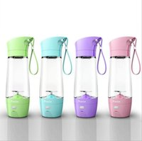 Mixer 1 380ML Mini Fruit Juice Bottle Portable Electric USB Stirring Fruit Blender Mixer Bottle Protein Powder Shaker Juicer Bottle OOA2675