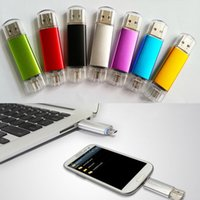 Wholesale Usb Memory Stick Drive - OTG 2*PORTS U-Disk USB Drive Flash Memory Stick 16GB 8GB 2GB 4GB For Smart Phone & Tablet PC