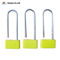 Wholesale airline plastic bag - Plastic Airline Security Padlock Seal with hot stamping and laser print lock logistics transport and money bags