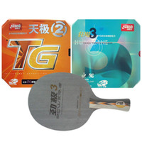 Wholesale Dhs Table Tennis Paddles - Wholesale-Pro Table Tennis (PingPong) Combo Paddle   Racket: DHS POWER.G3 + NEO Hurricane3   NEO Skyline TG2