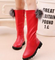 Wholesale Korean Knee High Boots - 2017Children autumn and winter Korean girls plush snow boots black Martin boots