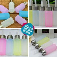 Wholesale Blue Bottles For Liquid - Food Grade Silicon 8ml Squonk Bottle Squeeze Liquid Bottles for E Cigarette Squonk Box Mods 3 Colors Clear Pink and Blue In Stock