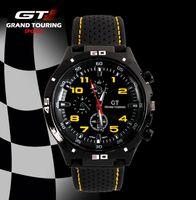 yarış pisti toptan satış-GT İZLE Aşırı Sürücü GT Yarış Spor Erkekler Militray Pilot Relojes Silikon Kayış Kuvars Saatler Moda Trendi İzle Drop Shipping