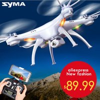 Wholesale Drone Quadricopter - SYMA X5SC   X5SW WIFI RC Drone quadricopter with FPV camera Headless 6-axis real-time RC Quad Helicopter Toys