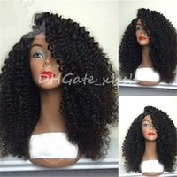 Wholesale Indian Kinky Curly Lace Front - Kinky Curly Wig High Density Full Lace Wig Human Hair For Black Women 10a Brazilian Lace Front Wigs