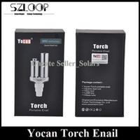 Wholesale Free Black Metal - Original Yocan Torch Enail Herbal Vaporizer Kit Quatz Dual Coil Wax Vaporizer Black SS Color DHL Free