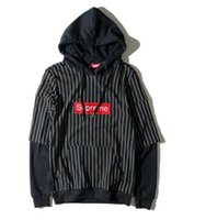 Wholesale Korean Men Hooded Sweater Jacket - ripndip Hooded sweater men fall loose Korean stitching fake two pieces of tide brand supp kanye hip hop couples jacket with sweater cham