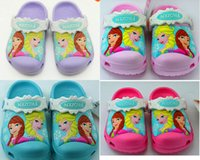 Wholesale Cartoon Clogs - 33 color 2016 new summer hole Children Brand Cartoon Garden Shoes Clog Sandal Slippers baby girls and boys beach slides