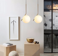 Discount modern ceiling art - L15-Modern Minimalist Pendant Light Lamp Nordic Glass Ball Lamp Home Clothing Ceiling Decoration for Living Room Bedroom Dining Room