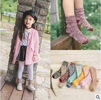 Wholesale Cheap Warm Socks - 3 Sizes Korea Socks Knitted Baby Socks Winter Warm Cotton Socks Children Socks Baby Socks Leg Warmers Kids Cheap Socks Casual Socks 519