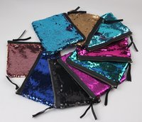Wholesale Wholesale Clutches Evening Handbags - 20pcs!Mermaid Sequin Clutch Bag 19*15cm Women Reversible Sequins Glitter Handbag Evening Clutch Bag Wallet Purse Cosmetic Storage Bag