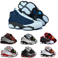 Wholesale Best Running Shoe Prices - 2017 New Mens womens Basketball Shoes Air Retro 13 Bred Black True Red Discount Sports Shoe Athletic Running shoes Best price Sneakers