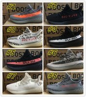 Wholesale Shoes Fitness - [With Box] Free Shipping Yeezy Boost 350 V2 Cream White Black Red Black Beluga Women And Men Yeezys Shoes Eur Size 36-46