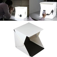 Wholesale Ships Free Photography Backdrops - Wholesale- Free Shipping Professional Accessories Mini Photo Studio Box Portable Photography Lighting Backdrop built-in Light Photo