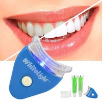 Wholesale White Light For Teeth - Wholesale- Health Oral Care Toothpaste Kit Whitening Tooth Gel White LED Light Teeth Whitener For Personal Dental Care Healthy 1 set