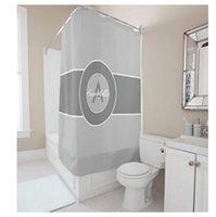 Wholesale Letters Shower Curtain - Customs 36 48 60 66 72 (W) x 72 Inch (H) Shower Curtain Letters Theme A Letter Waterproof Polyester Fabric DIY Shower Curtain