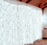 ingrosso giardinaggio bulbo-300leds fata stringa ghiacciolo ha condotto la luce della tenda 300 lampadine di natale di natale di nozze festa in giardino decor 220 v 3 m * 3 m 12 fili-bianco