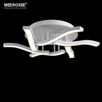 Wholesale Wave Ceiling - Good Quality LED Acrylic Ceiling Light Fixture Wave Flush Mounted Ceiling lamp lustre LED White Acrylic lighting for Living room