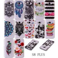 Wholesale Cartoon Case Wholesale - for Samsung S8 Clear Cases Cartoon Cute ultrathin Crystal Soft Phon Cover for Samsung galaxy S8 Plus S5 S6 S7 EDGE Note 8