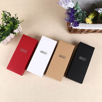 Wholesale Wholesale Cardboard Gift Boxes - 2016 hotsales small present boxes kraft and cardboard packaging box 3 color accept costom logo(2)