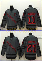 Wholesale Quick Charcoal - New Arrival Mens New York Rangers 11 Mark Messier 21 Derek Stepan Fashion Gray Shadow Charcoal Cross Check ny nhl Hockey Jersey