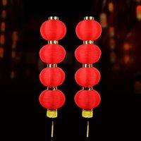 festival de artes do feriado venda por atacado-Rodada Lanternas Vermelhas Festival da Primavera Artesanato Lanterna Artes E Ofícios Do Presente Do Feriado Decoração Artigos Para Alta Qualidade 8hh C