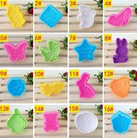 Wholesale Wholesale Fondant Cutters - 32 Styles 3D Plastic Cookies Cutter Cartoon Fondant Cake Sugarcraft Baking Biscuit Cookie Cutter Mold Cake Decorating Tools 1000pcs OOA2668