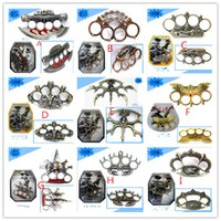 Wholesale Broken Rings - 9 styles ring tiger NEW alloy TITANIUM HEAVY DUTY BUCKLE BRASS KNUCKLE DUSTER Quality is very good be worth to collect Broken Windows tool