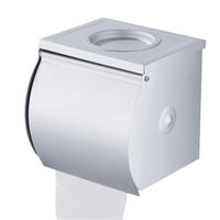 Wholesale Tissue Box Holder Wall Mount - Wholesale- Stainless Steel Roll Tissue Box Toilet Paper Holder Wall Mounted Durable Bathroom Accessories Modern Square Polished Chrome