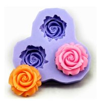 Wholesale Wholesale Silicone Rubber Molds - Cake Mold Creative Sweet Flower New Silicone Baking Mold Fondant Molds Cookies Chocolate Sugar Kitchen Craft Tools Non Toxic Baking Resin