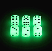 Wholesale Glowing Dice - Luminous Dice 16mm D6 Glowing Dice Bosons Drinking Games Funny Family Game For Party Pub Bar Toys Good Price High Quality #S2
