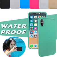 Wholesale Iphone White Front Cover - 100% Sealed Waterproof Underwater Diving Full Body Screen Protect Soft TPU Gel Front Back Cover Case For iPhone X 8 7 Plus 6S 5S Samsung S7