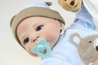 Wholesale Silicone Women Doll - 23inch Full Silicone Reborn New Baby Alive Waterproof Boy Dolls Women Collect Educational Training Toys Gift