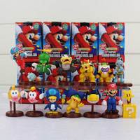 Super Mario Bros Koopalings Bowser Blurp PVC Figura de ação Brinquedos Dolls 13pcs / lot Novo no Retail Box Green
