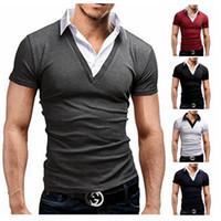 Wholesale Slim Short Free Shipping - Hot Summer Short Sleeve Polo Shirts Men Polo Shirt T-Shirts, Fashion And Personality Man Tees Free Shipping