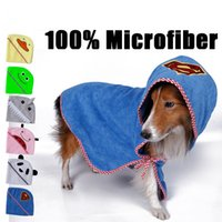 -Dog gros chat de serviette ultra-absorbante Nettoyage de séchage nécessaire conception Hooded Towel animal mignon de bande dessinée Made By Supplies microfibres Pet