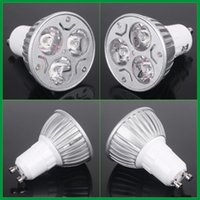 Free DHL E27 GU10 Led spot Light Spotlight bulb downlight lighting 3W 330LM Светодиодная лампа AC 85-265V