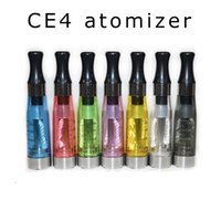 Wholesale Ego Ce4 V2 Clearomizer - CE4 Atomizer eGo Clearomizer 1.6ml 2.4ohm 4 wicks Electronic Cigarette for ego t evod battery vs ce3 CE5 atlantis v2