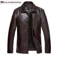 Wholesale Middle Age Mens Leather Jackets - Fall-Newest Autumn Mens Jackets And Coats Pu Leather Middle-aged Thin Motorcycle Jacket Jaqueta De Couro Masculina