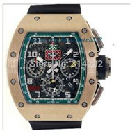 Wholesale flyback chronograph watch online - Luxury Watches Flyback Chronograph Le Mans K RG Men Sports Watches Black Rubber Strap Mens Watch Wristwatches